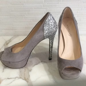 Boutique 9 Grey / Silver Platforms