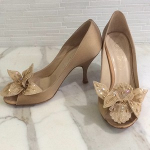 Joan & David Camel satin Formal