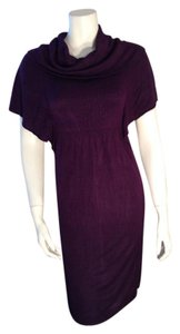 Max Studio short dress Aubergine Sweater Size Small on Tradesy