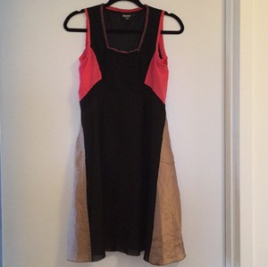 DKNY short dress Black pink and tan on Tradesy