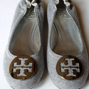 Tory Burch Grey/Silver Flats