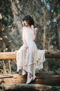 Free People French Courtship Bohemian Peasant Xs Dress