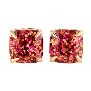 Lamb Jewelry NEW Lamb Jewelry 'Autumn' Pink & Copper Glitter Stud Earrings 12k Gold