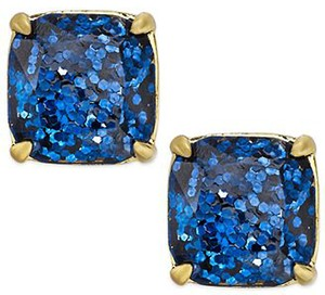 Kate Spade NEW Kate Spade New York Navy Blue Glitter Studs Earrings