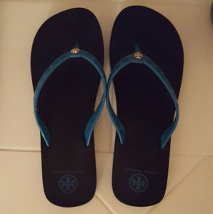 Tory Burch Turquoise/Black Sandals