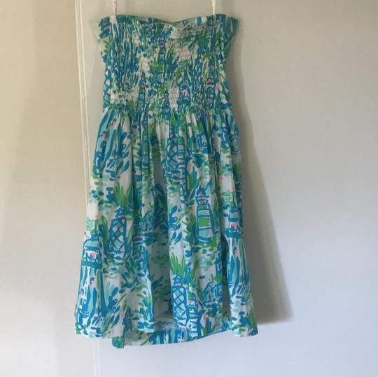 delicate Lilly Pulitzer Pink, Green, White, And Blue Dress - 64% Off Retail