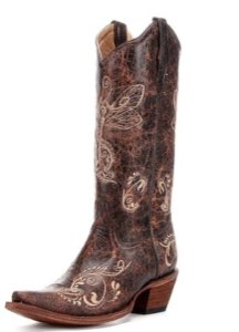 Corral Boots Cowboy Distressed brown leather Boots