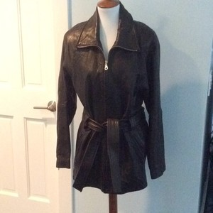 Andrew Marc Black leather Leather Jacket