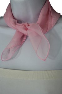 Other Chic Fashionable Neck Tie Sheer Scarf Light Pink Color Square Pocket