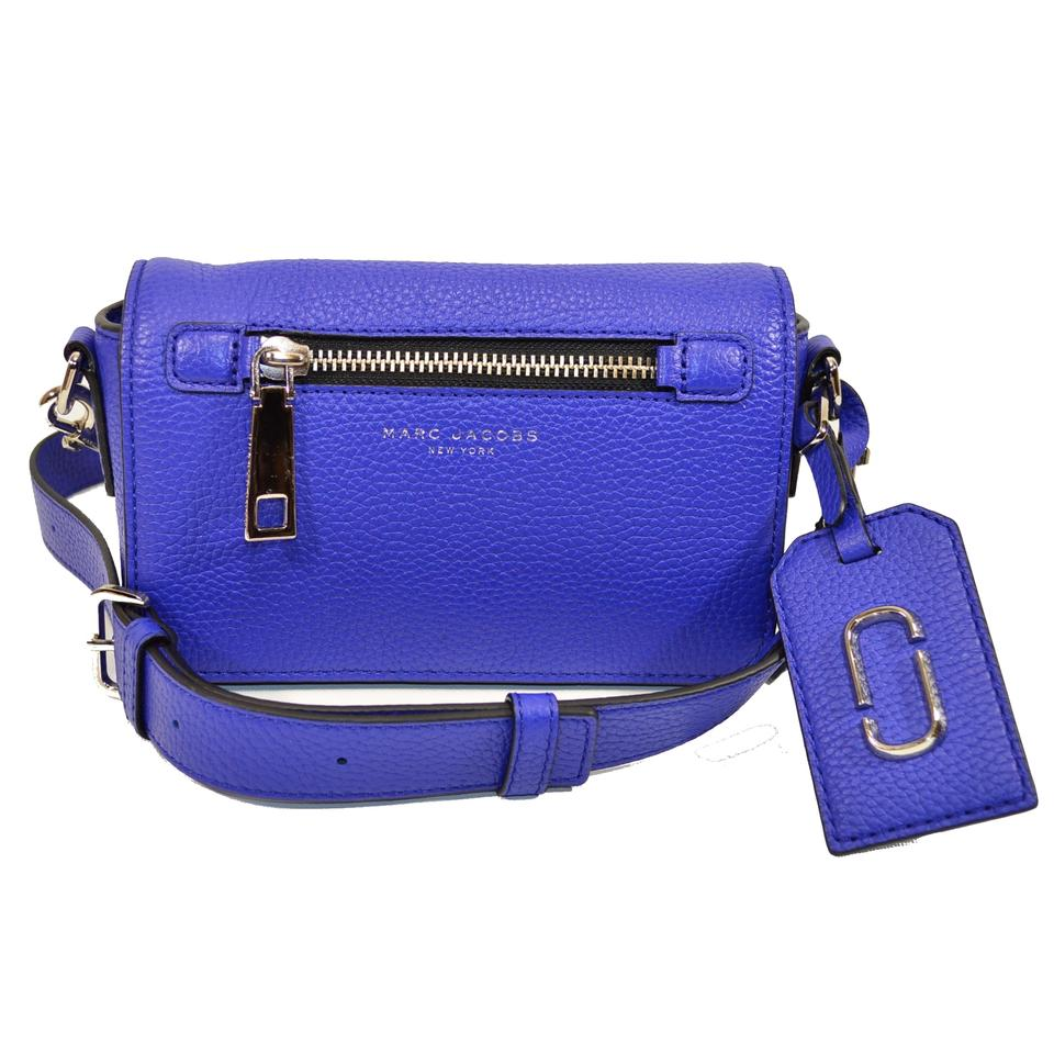 c7c5a5fa6acd Marc Jacobs Gotham Clutch Cobalt Blue Leather Cross Body Bag - Tradesy