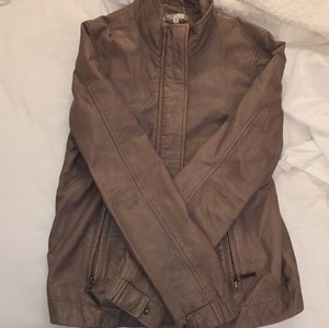 Vince Tan Leather Jacket