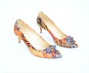 J.Crew Embellished Crystal Lace Mulitcolor Pumps