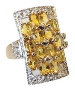 Colleen Lopez Colleen Lopez Citrine and White Topaz Ring 8