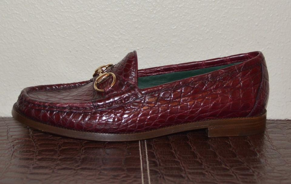 ddd7970de19 Gucci Cherry Horsebit Women Crocodile 1921 Loafers Eu 37.5 Flats. Size  US  7.5 Regular ...