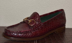 Gucci Leather Cherry Flats