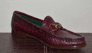 Gucci Leather Loafers Cherry Flats