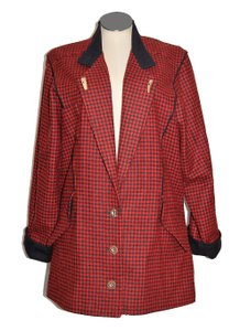 Lodenfrey Hunting Equestrian Jacket Plaid Checks Pea Coat