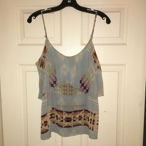 Aqua Top Blue with tribal pattern