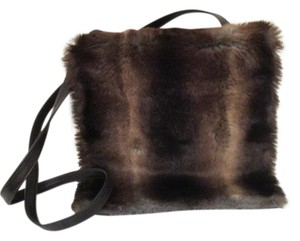Neiman Marcus Vintage Large Flap Closure Faux Fur Shoulder Bag