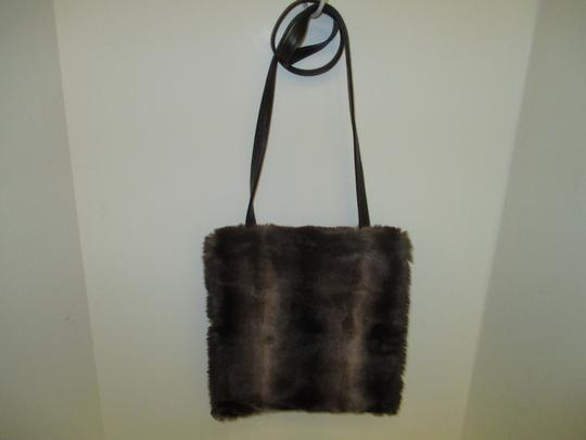 Neiman Marcus Vintage Large Flap Closure Faux Fur Shoulder Bag Image 1