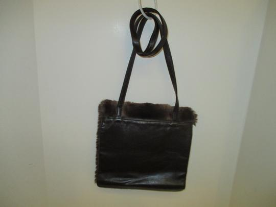 Neiman Marcus Vintage Large Flap Closure Faux Fur Shoulder Bag Image 2