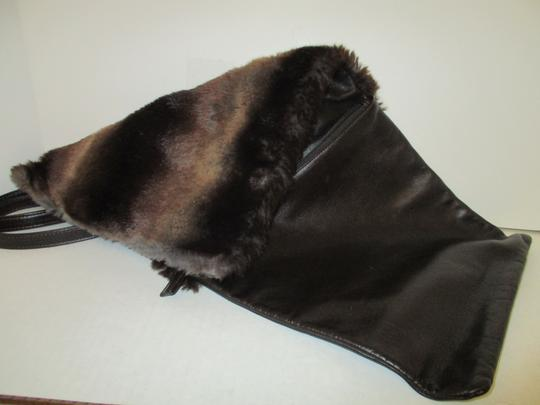 Neiman Marcus Vintage Large Flap Closure Faux Fur Shoulder Bag Image 5