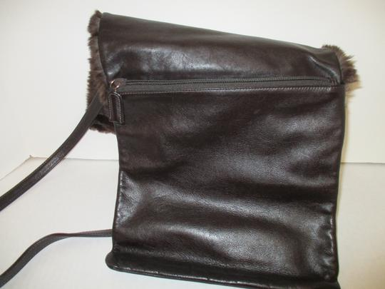 Neiman Marcus Vintage Large Flap Closure Faux Fur Shoulder Bag Image 6