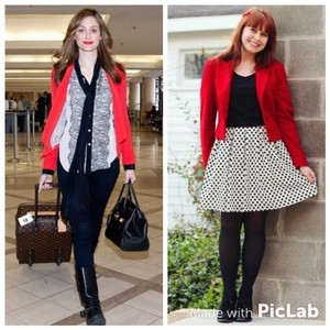 Lauren Ralph Lauren Red/Black Blazer
