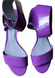 Chloé Chloe Patten Leather Retro Purple Sandals