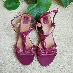 Clarks Pink Wedges