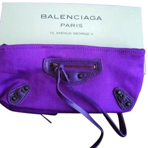 Balenciaga Purple Clutch
