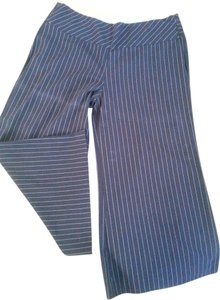 Star City Pinstripe Gaucho Slimming Capris Black