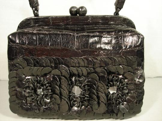 Nancy Gonzalez New Can Be Day Mirrors In Flowers 3 Croc Flowers Shoulder Strap Cross Body Bag Image 1