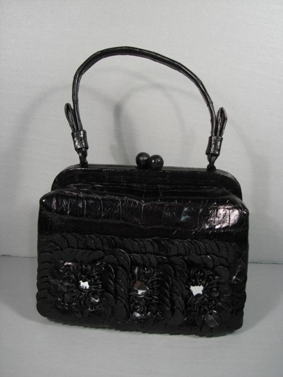 Nancy Gonzalez New Can Be Day Mirrors In Flowers 3 Croc Flowers Shoulder Strap Cross Body Bag Image 2