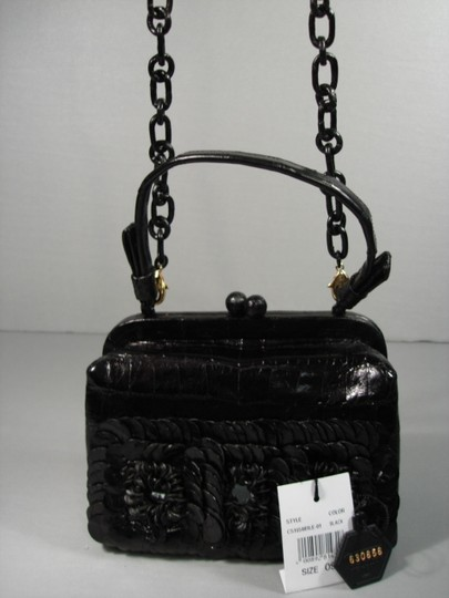 Nancy Gonzalez New Can Be Day Mirrors In Flowers 3 Croc Flowers Shoulder Strap Cross Body Bag Image 7