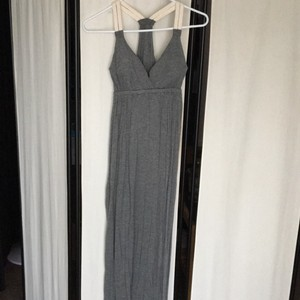 Grey Maxi Dress by Pink Rose