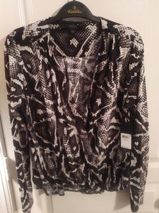 Guess Leopard Date Night Night Out Top animal print