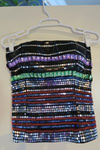 Body Central Girls Tube Fun Top multi sequin