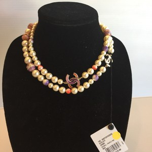 Chanel CHANEL NWT KOREAN GARDEN FAUX PEARL MULTICOLOR NECKLACE ($3175)