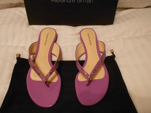 Alexandre Birman Python Inserts Color Purple Sandals