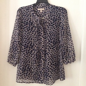 Banana Republic Top Navy Blue & White