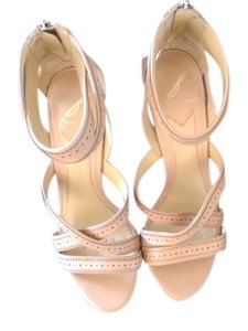 Brian Atwood Leather Detail Strappy Beige/Blush/Nude Sandals