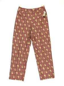 Talbots Petite Lined Floral Relaxed Pants Red