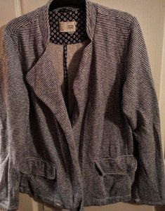 Anthropologie Casual Floral Striped Blazer