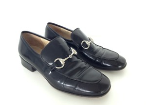 Gucci Vintage Leather Black Flats