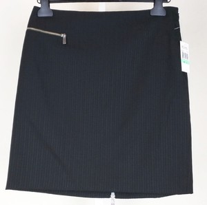 Michael Kors Striped Mini Skirt black