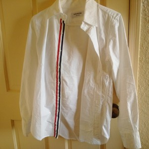 Thom Browne Button Down Shirt White