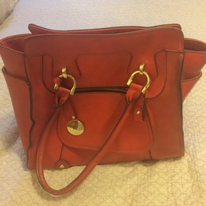London Fog Tote in Red