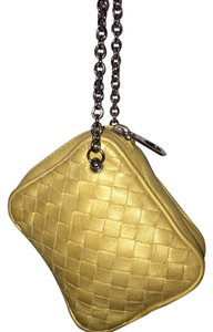 Bottega Veneta Wristlet in golden yellow