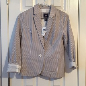 Gap Grey White Blazer